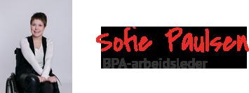 Bilde med navn og tittel til BPA-arbeidsleder Sofie Paulsen.