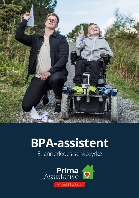 Omslagsbildet til pdf-filen som heter «Vi kan BPA for barn».  Omslaget er en tegning av en familie på tur hvor et barn er i rullestol.
